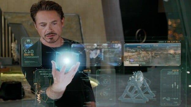 Imagen de Iron Man con una idea similar a la patentada por Apple