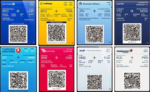 Tarjetas de embarque en PassBook