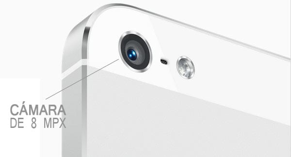 Cámara iSight de 8 MPX del iPhone 5