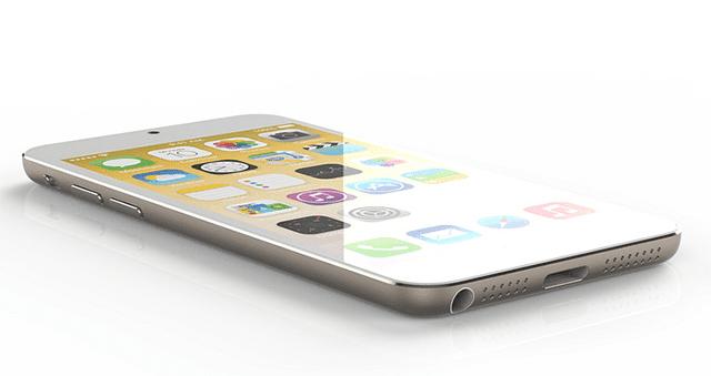 Concepto de iPhone 6 con pantalla irrompible de zafiro