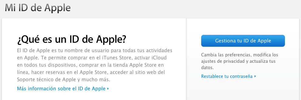Gestiona tu ID de Apple