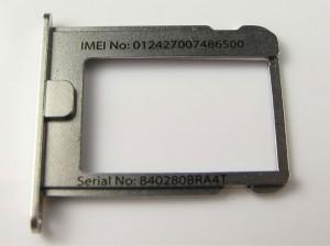 Imei iPhone en bandeja MicroSim y NanoSim