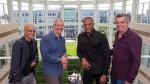 Jimmy Iovine,Tim Cook, Dr. Dre, Eddy Cue