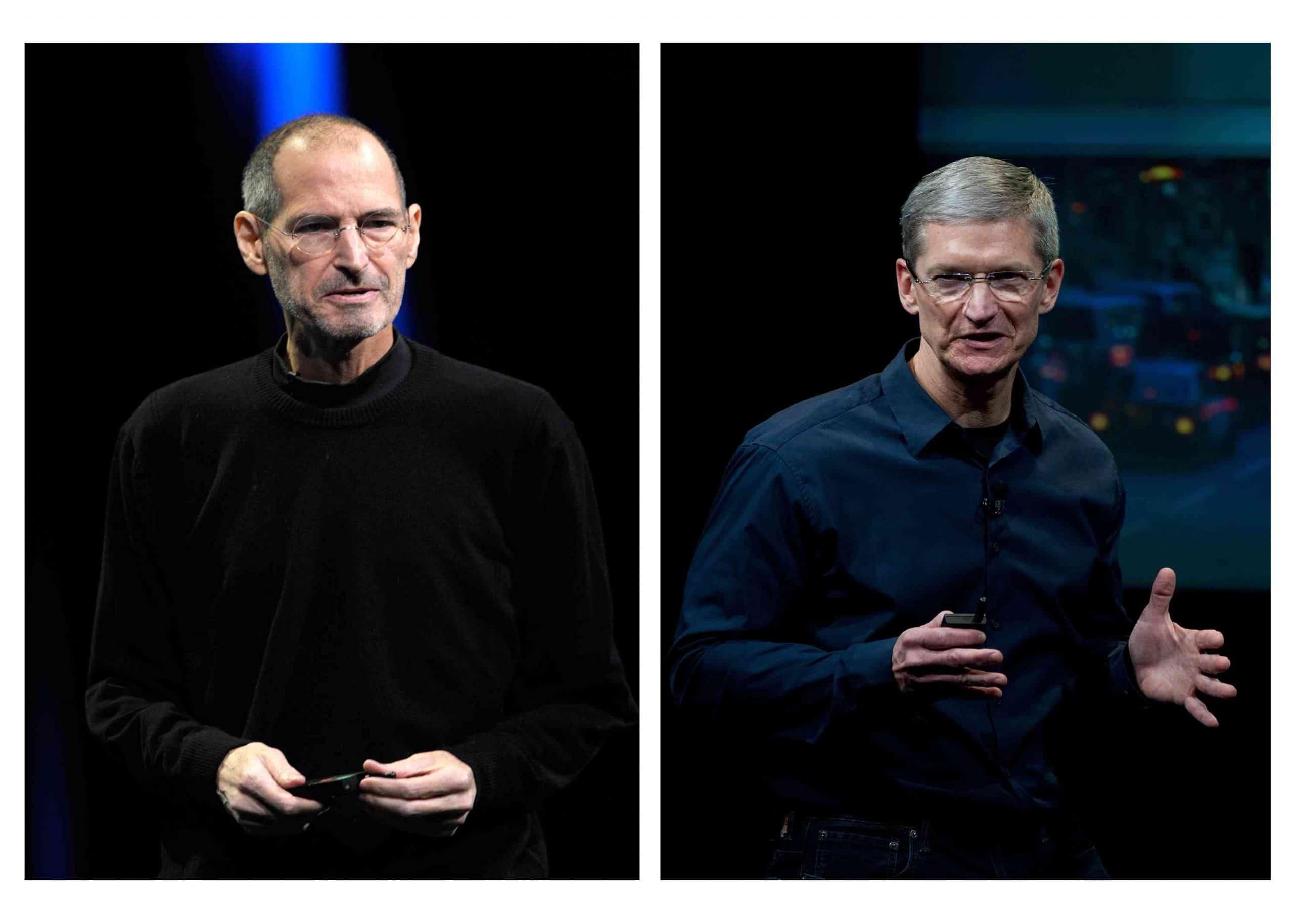 Steve Jobs y Tim Cook