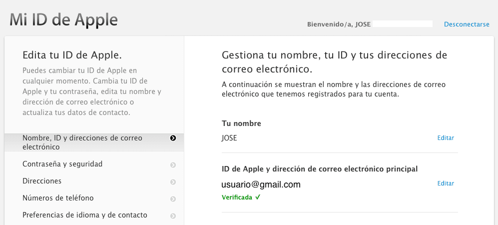 Mi ID de Apple