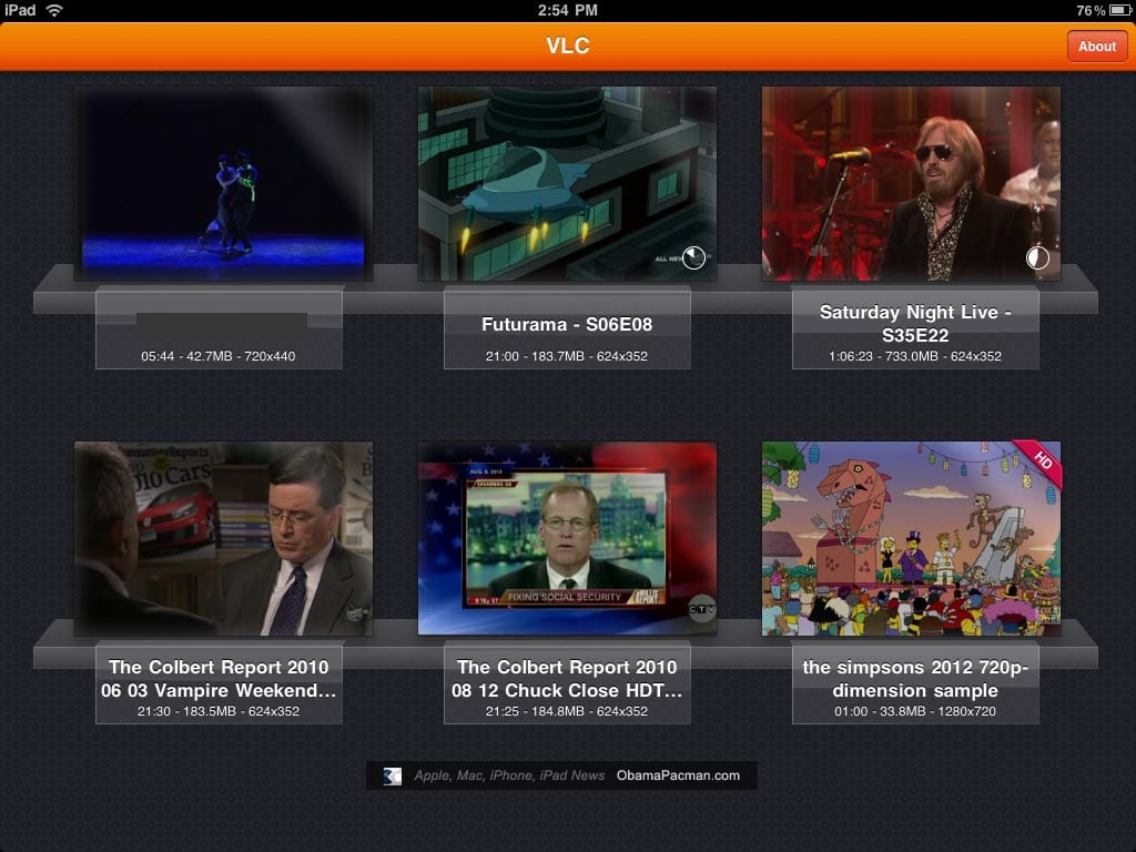 VLC Player iPad