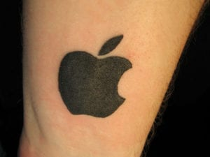 Apple hasta en la piel