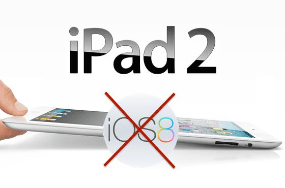 iPad 2 iPhone 4 no actualizarán a iOS 8