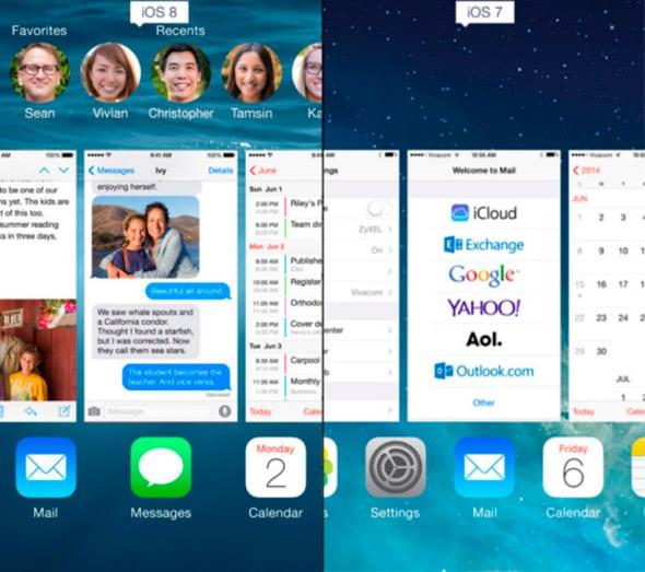 Contactos en multitarea iOS 8