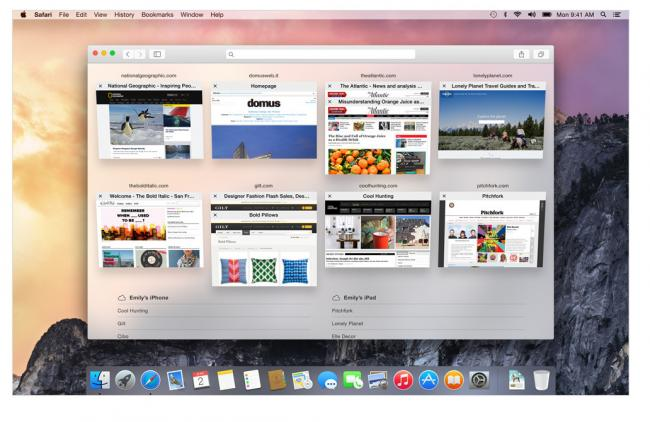 Safari OS X Yosemite. Nueva vista pestañas