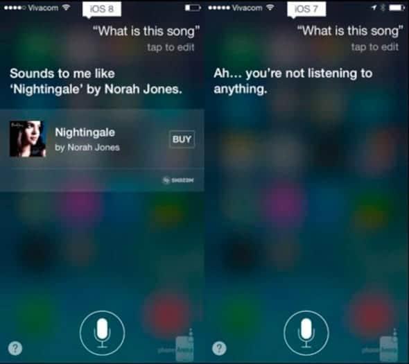 Siri en iOS 7 y en iOS 8