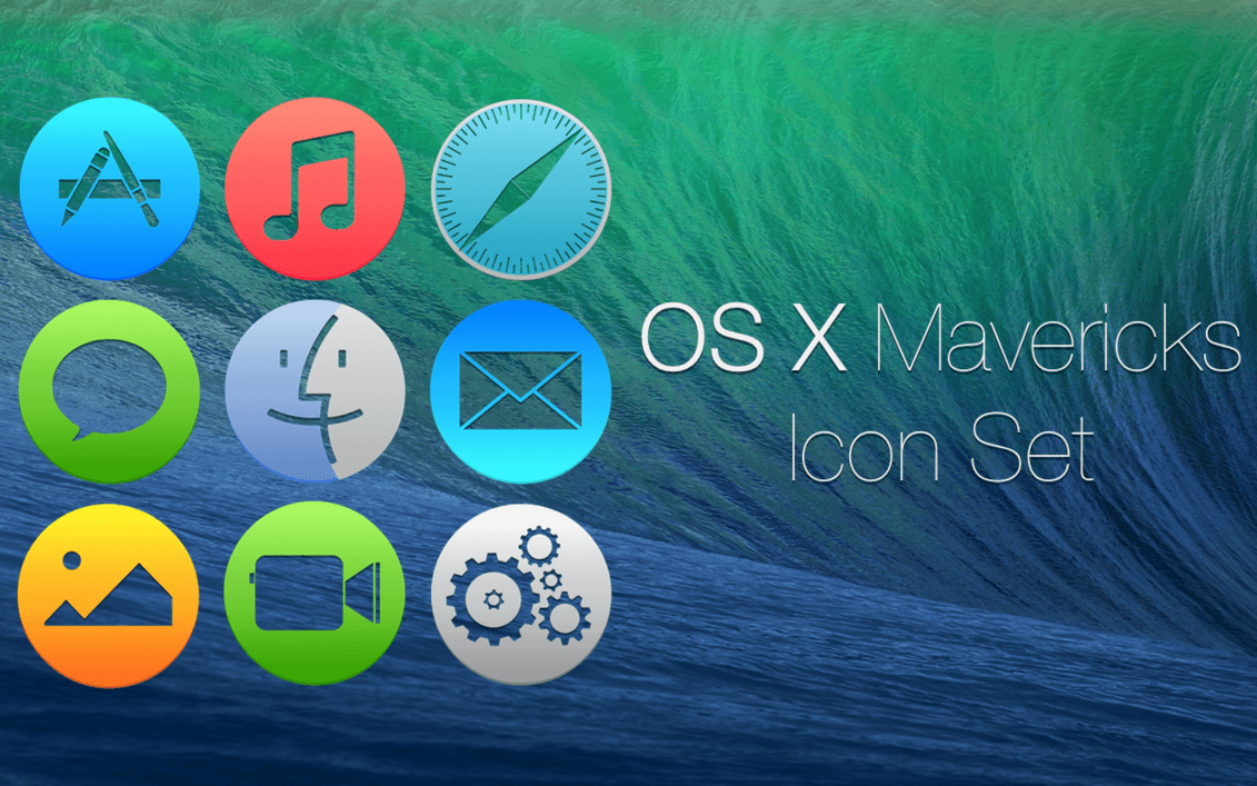 OS X Mavericks Icons Set