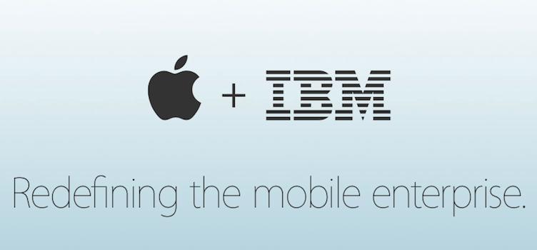 Web de Apple anunciando el acuerdo con IBM