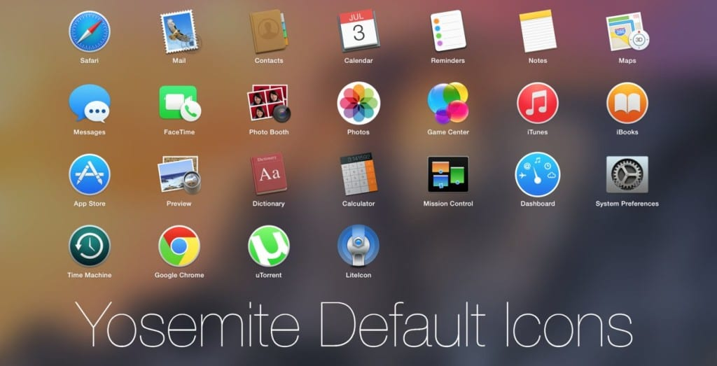 Yosemite Default Icons