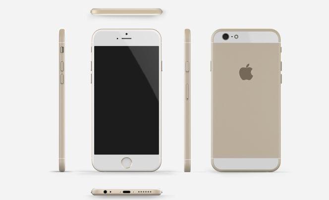 iPhone 6 diseñado por Tomas Moyano y Nicolàs Aichino en base a las informaciones existentes