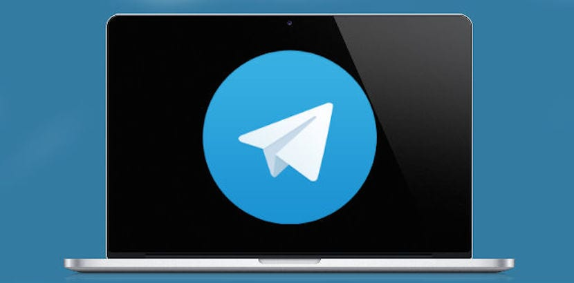 MacBook logo Telegram