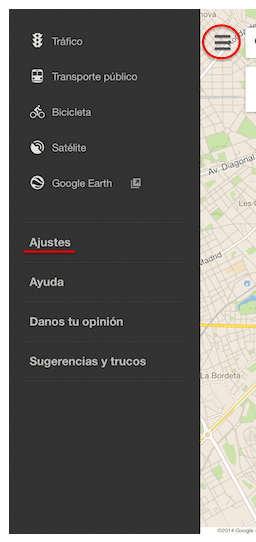 Guardando mapas offline en Google Maps