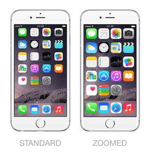Modo standar o modo zoom en iPhone 6