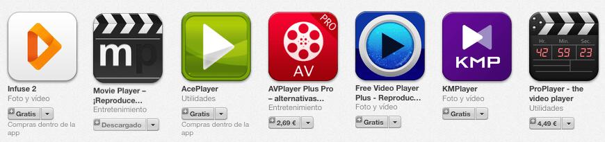 Algunos reproductores para ver películas en iPad