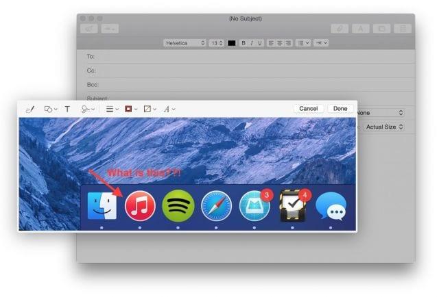 Anotar imágenes en Mail con OS X Yosemite