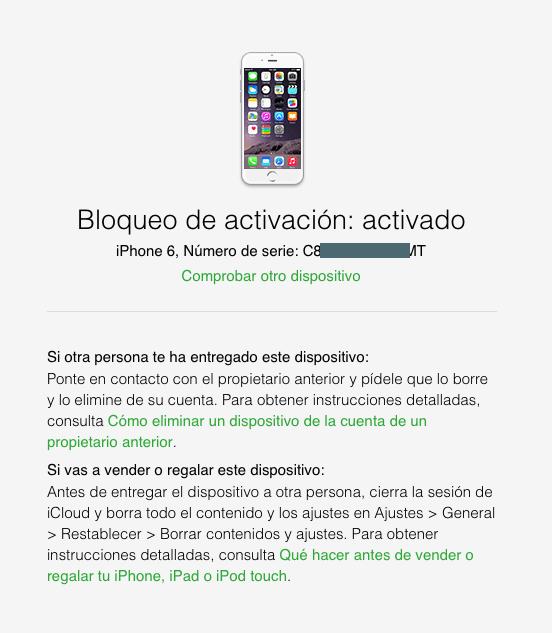 Apple lanza una herramienta para comprobar si un iPhone es robado