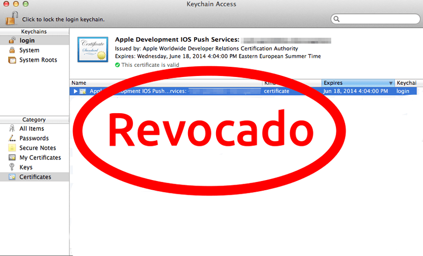 certidicado apple