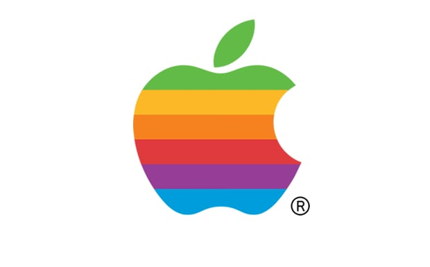 Logotipo Apple, 1977-1998