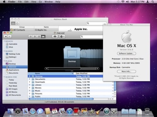 Mac OS X 10.6.8 Snow Leopard