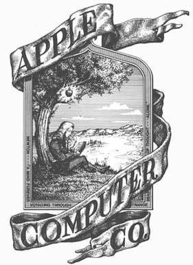 Primer logo de Apple 1976