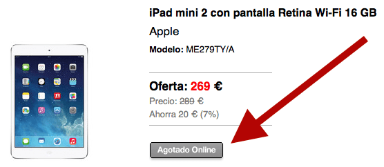 Black Friday iPad Mini El Corte Inglés