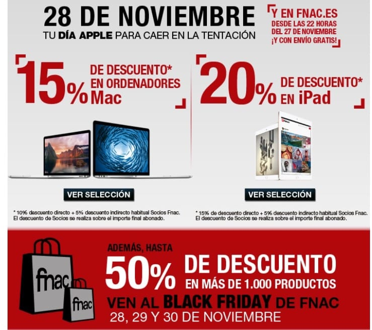 BlackFriday Fnac Apple