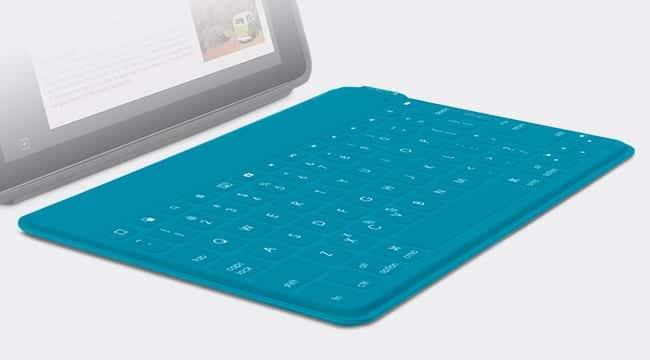 Keys-To-Go para iPad de Logitech verde azulado