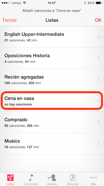 Cómo crear y editar Playlists desde tu iPhone o iPad3