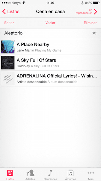 Cómo crear y editar Playlists desde tu iPhone o iPad6