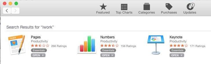 Cómo descargar gratis las apps de iWork en un antiguo Mac