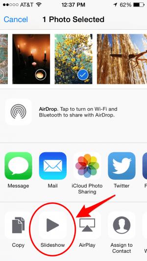 Como hacer presentaciones de fotos en tu iPhone o iPad 3