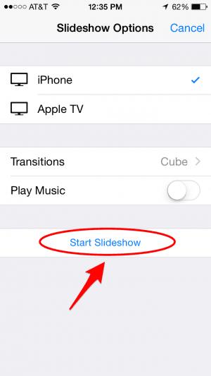 Como hacer presentaciones de fotos en tu iPhone o iPad 5