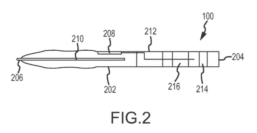 Patente Communicating stylus apple