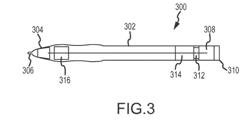 Patente Communicating stylus apple 1