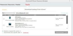 Elcomsoft actualiza Phone Password Breaker