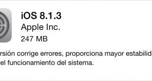 Apple lanza iOS 8.1.3 con correcciones de errores, reducción del tamaño de almacenamiento
