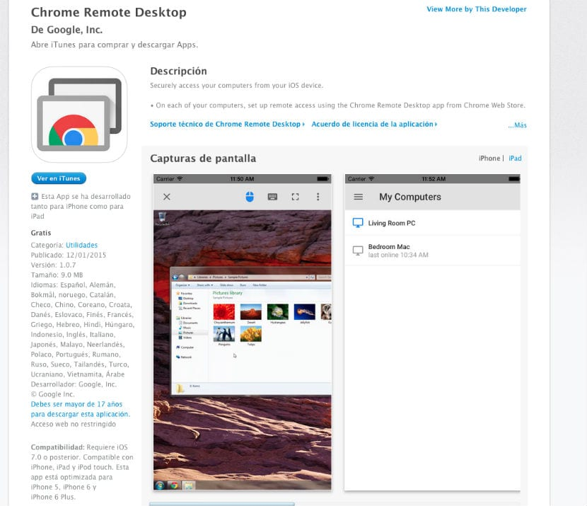 Chrome Remote Desktop descarga