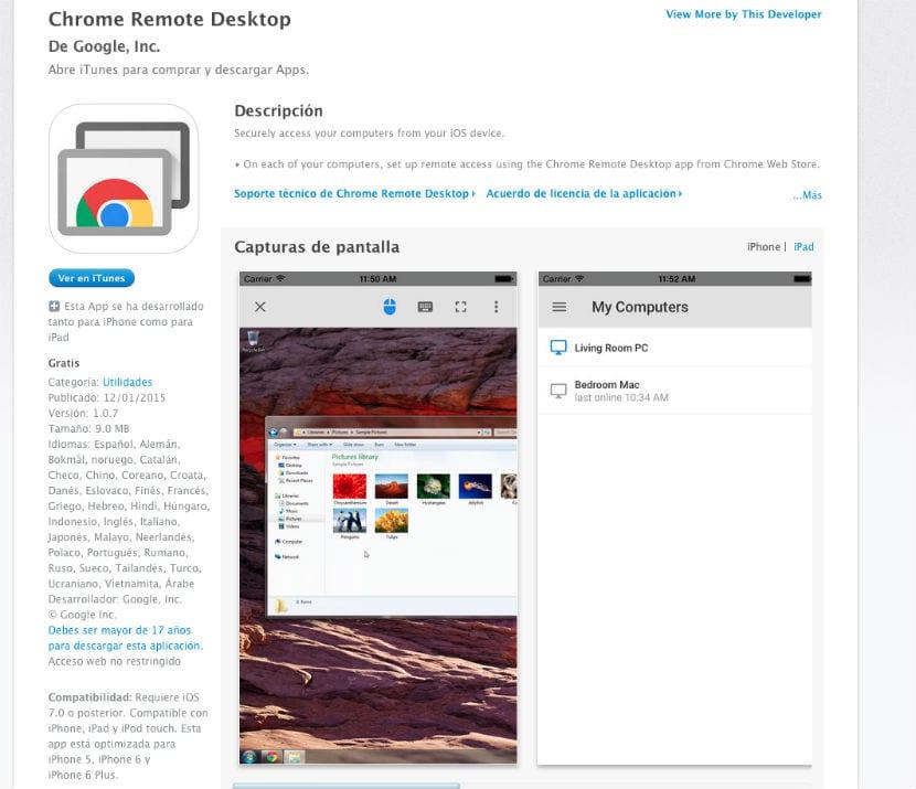 Chrome Remote Desktop descarga