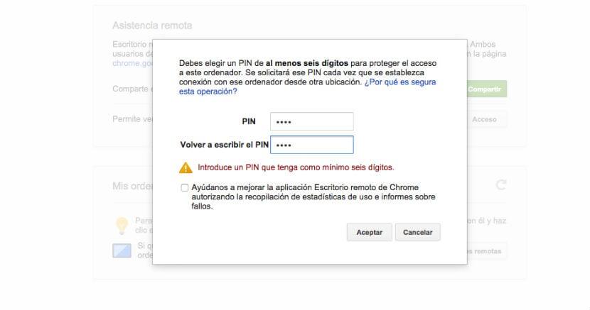 Chrome Remote Desktop pin
