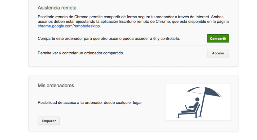 Chrome Remote Desktop acceso remoto