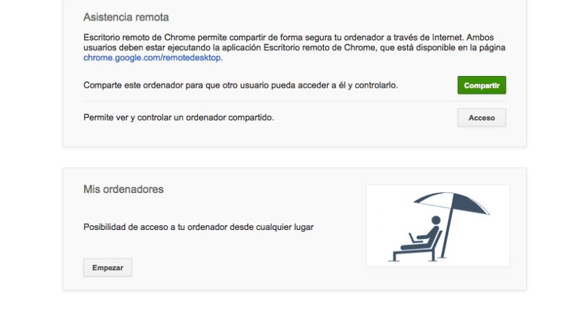 Chrome Remote Desktop acceso remoto