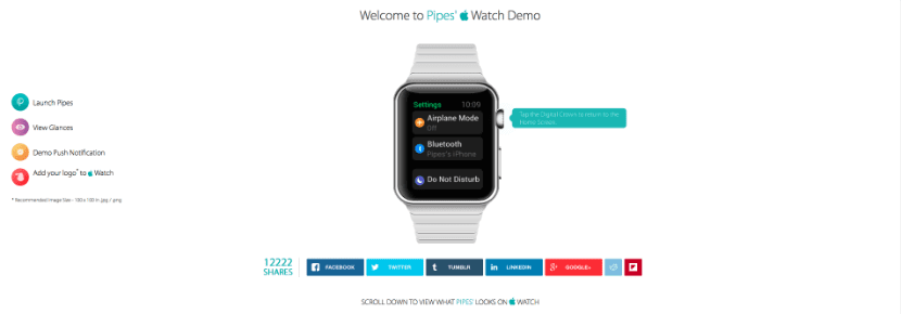 demo apple watch pipes web