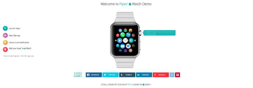 demo apple watch pipes