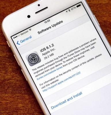 Apple deja de firmar iOS 8.1.2