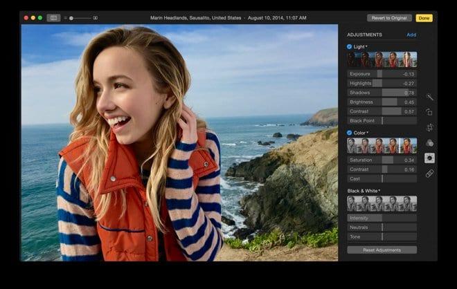 Herramientas de edición de imagen en la nueva app Photos de OS X | IMAGEN: The Verge